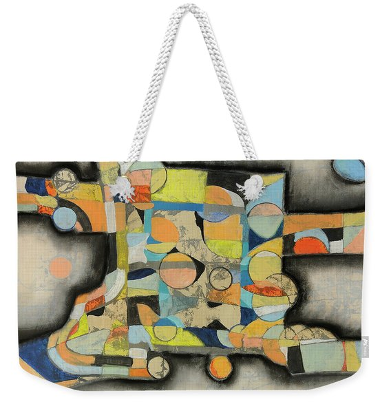Weekender Tote Bag featuring the painting After The Beach by Mark Jordan