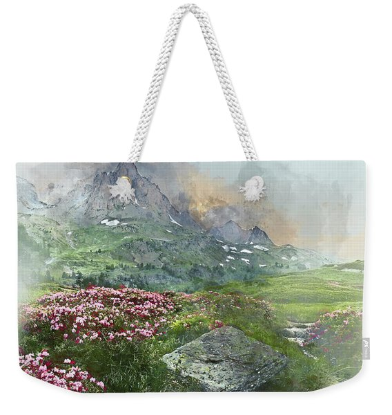 Afternoon Light In The Alps II Weekender Tote Bag