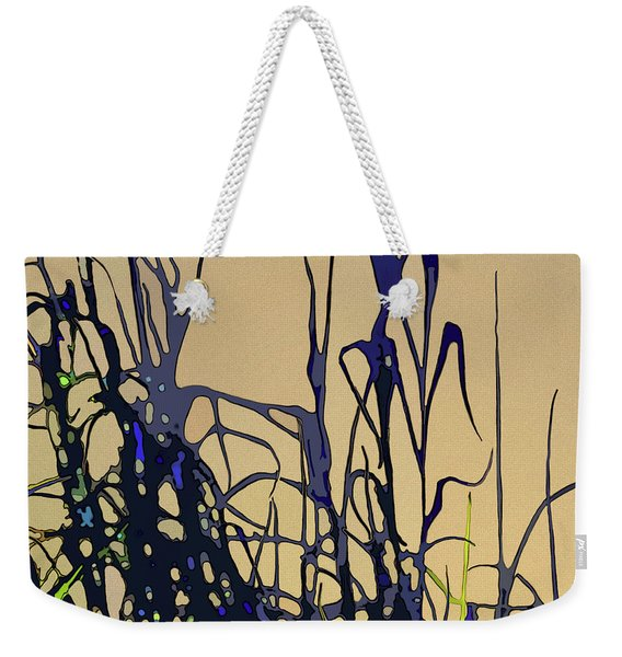 Weekender Tote Bag featuring the digital art Afternoon Shadows by Gina Harrison