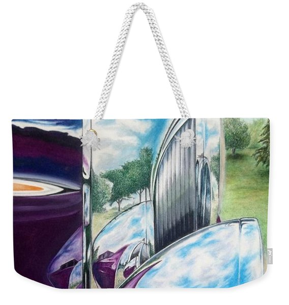 Aged Elegance Weekender Tote Bag