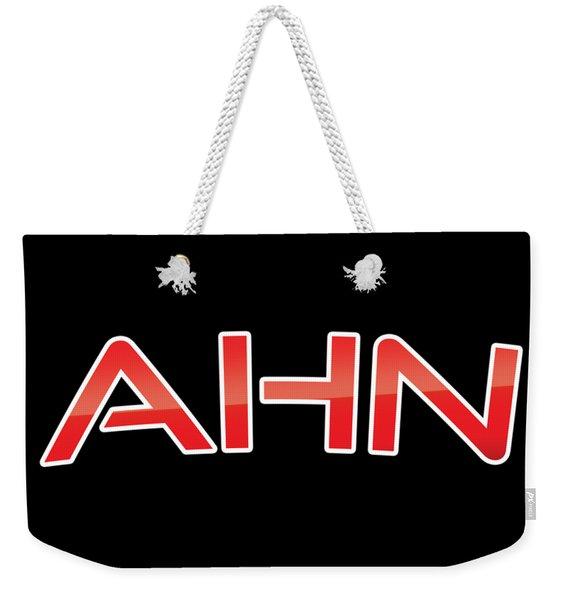 Ahn Weekender Tote Bag