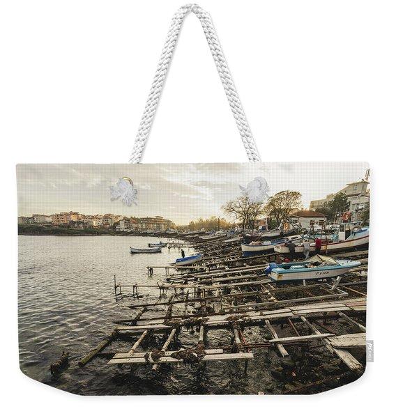 Ahtopol Fishing Town Weekender Tote Bag