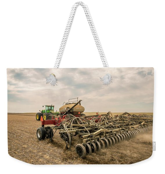 Air Drill Seeding Weekender Tote Bag