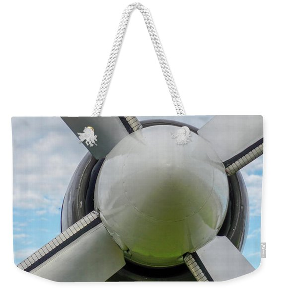 Weekender Tote Bag featuring the photograph Aircraft Propellers. by Anjo Ten Kate