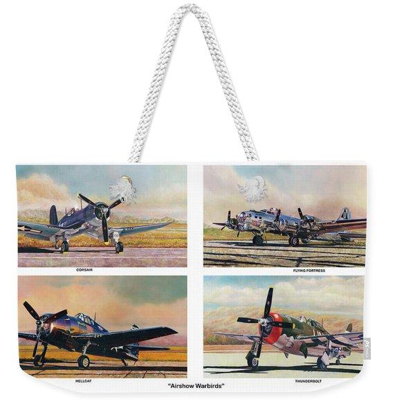 Airshow Warbirds Weekender Tote Bag