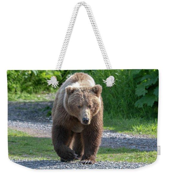 Alaskan Brown Bear Walking Towards You Weekender Tote Bag