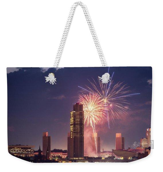 Albany Fireworks 2019 Weekender Tote Bag
