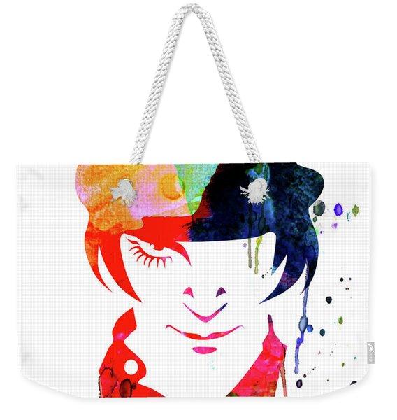 Alex Watercolor Weekender Tote Bag