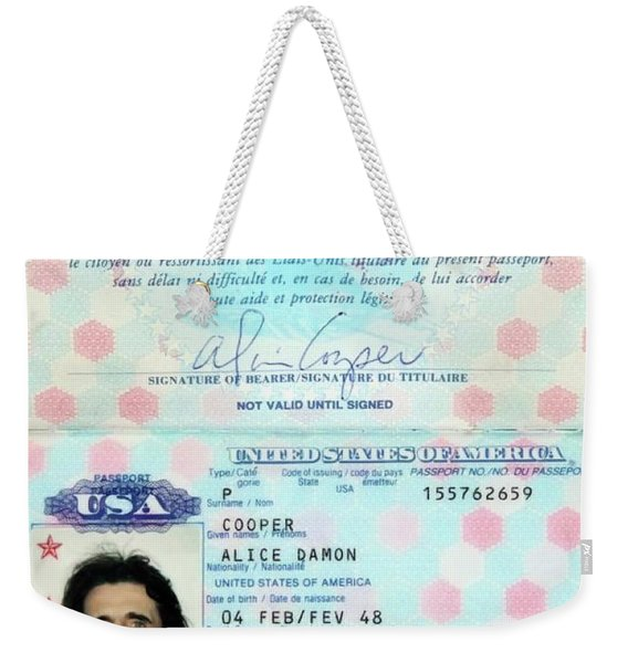 Alice Cooper Passport 1997 Weekender Tote Bag