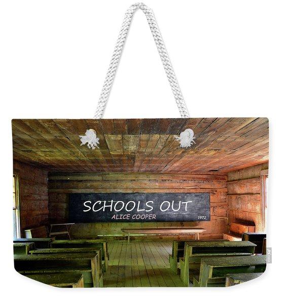 Alice Coopers Schools Out 1972 Weekender Tote Bag