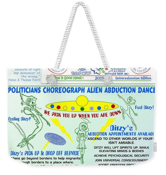 Alien Abduction Dance Weekender Tote Bag