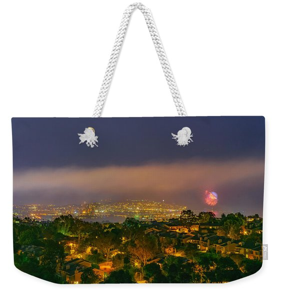 Fourth Of July Celebration At Mount Soledad, San Diego Weekender Tote Bag