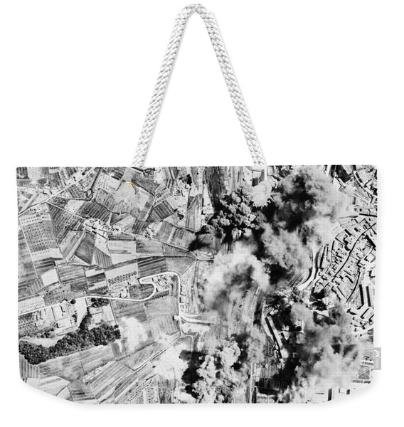 Allied Aerial Bombardment - Ww2 Italy - 1943 Weekender Tote Bag