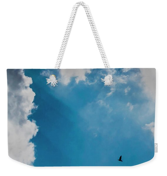 Colours. Blue. Alone. Weekender Tote Bag