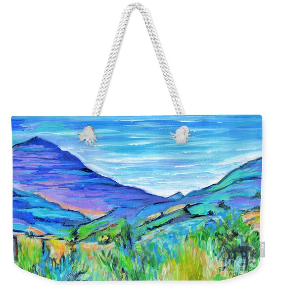 Along The Blue Basin Scenic Highway Weekender Tote Bag