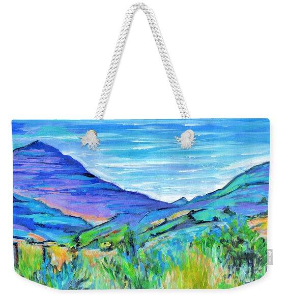 Along The Blue Basin Scenic Highway Weekender Tote Bag
