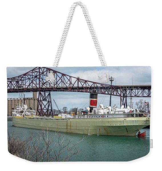Alpena And The Skyway Bridge In Chicago Weekender Tote Bag