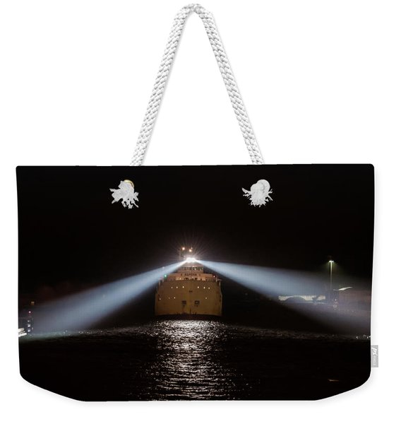 Alpena Late Night Arrival In The Port Of Chicago Weekender Tote Bag