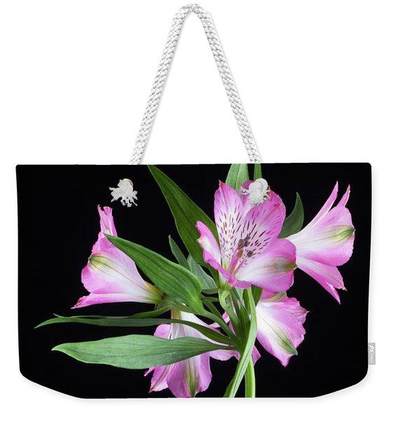 Alstroemeria Light Pink Weekender Tote Bag