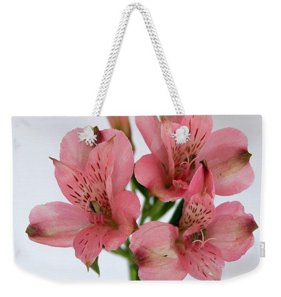 Alstroemeria Up Close Weekender Tote Bag