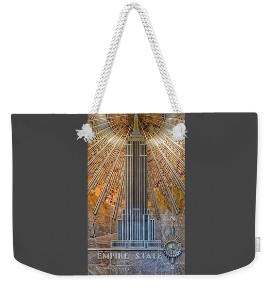 Aluminum Relief Inside The Empire State Building - New York Weekender Tote Bag