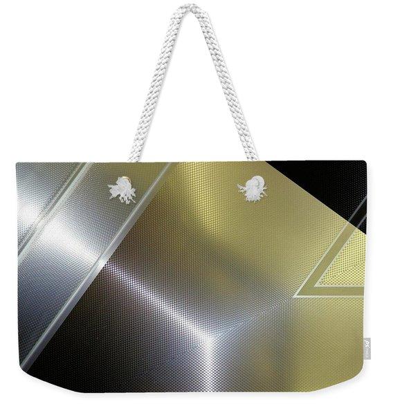 Aluminum Surface. Metallic Geometric Image.   Weekender Tote Bag