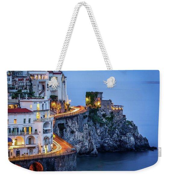 Amalfi Coast Italy Nightlife Weekender Tote Bag