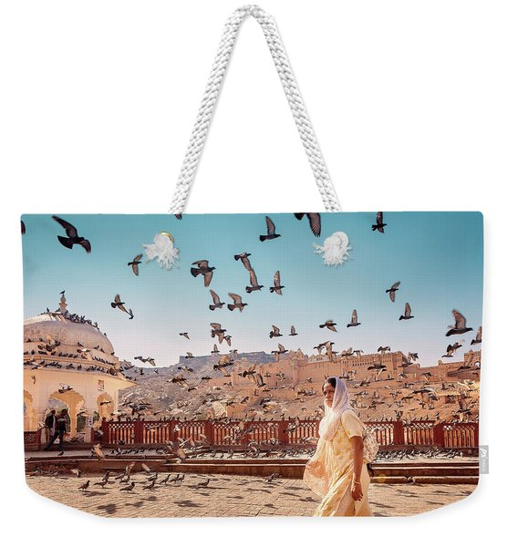 Amber Fortress Weekender Tote Bag