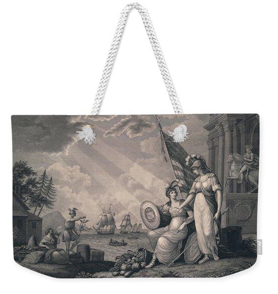 America Guided By Wisdom Weekender Tote Bag