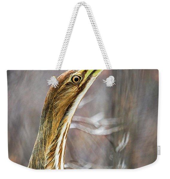 American Bittern Weekender Tote Bag