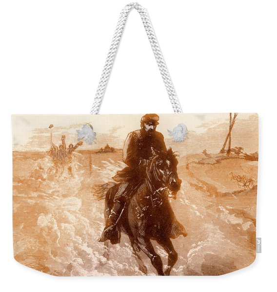 American Civil War Union General Philip Sheridan Rides To The Front Weekender Tote Bag