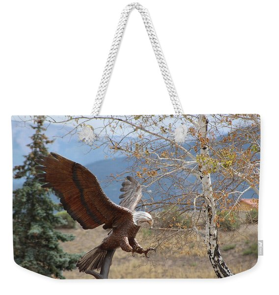 American Eagle In Autumn Weekender Tote Bag