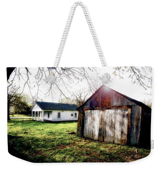American Fabric   Mickey Mantle's Childhood Home Weekender Tote Bag