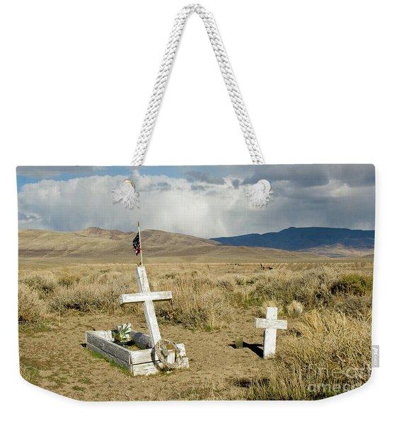 American Flag Grave Weekender Tote Bag