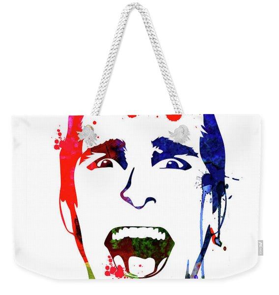 American Psycho Watercolor Weekender Tote Bag