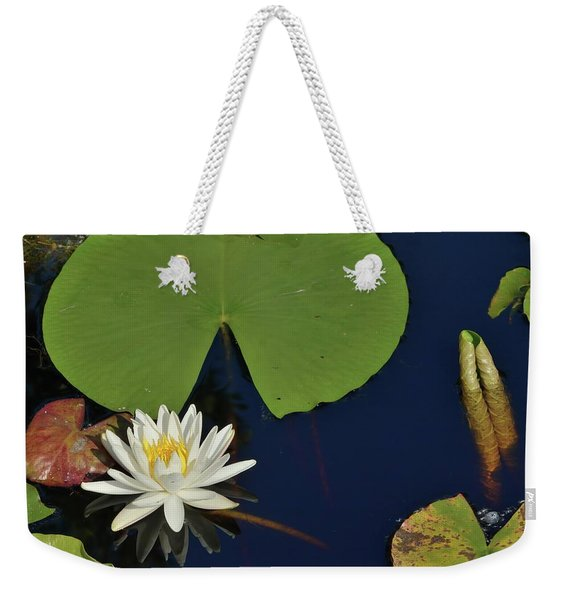American Water Lily Weekender Tote Bag