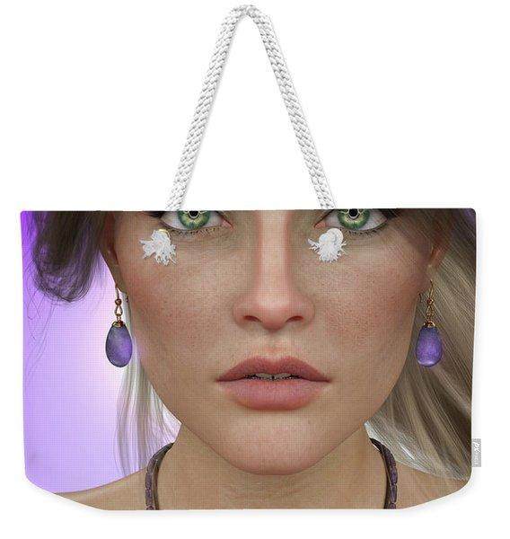 Amethyst Weekender Tote Bag