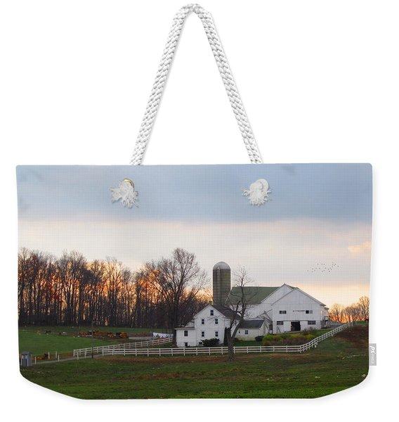 Amish Farm At Dusk  Weekender Tote Bag