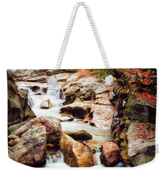 Weekender Tote Bag featuring the photograph Ammonoosuc River, Autumn by Jeff Sinon