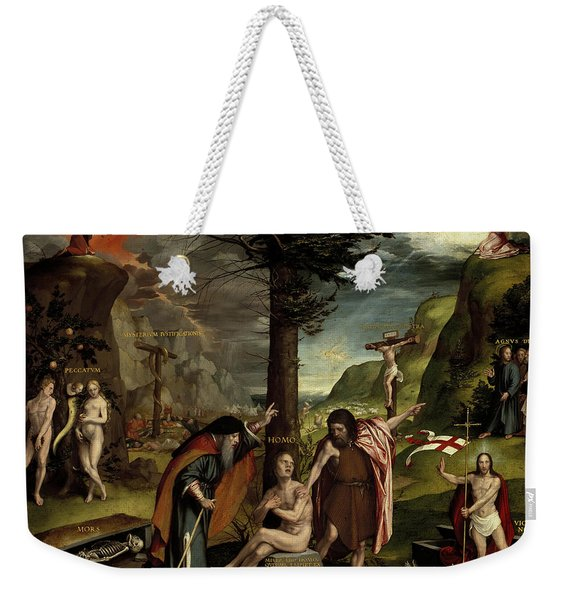 An Allegory Of The Old And New Testaments, 1530 Weekender Tote Bag