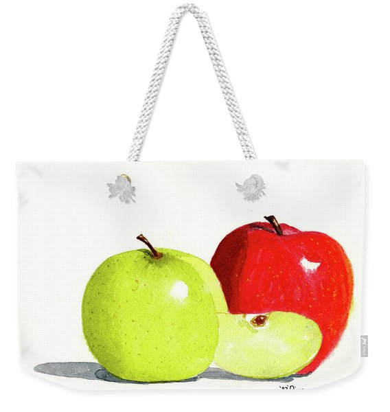 Weekender Tote Bag featuring the painting An Apple A Day by Rich Stedman