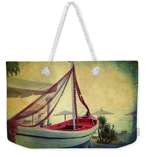 an Old Boat Weekender Tote Bag