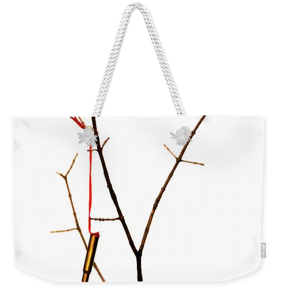 And A Cartridge In A Bare Tree... Weekender Tote Bag
