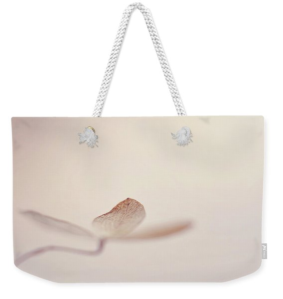 Weekender Tote Bag featuring the photograph And Also by Michelle Wermuth