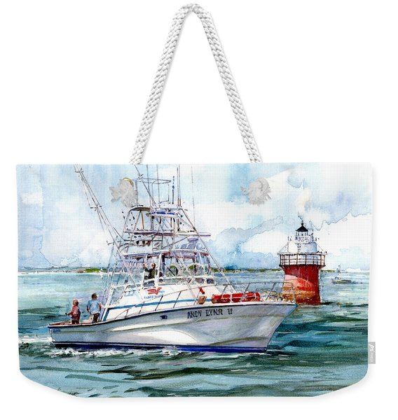 Andy Lynn II As She Passes The Bug Weekender Tote Bag
