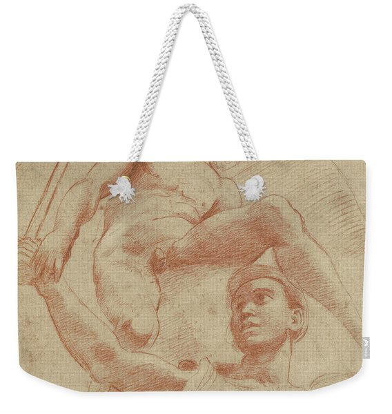 Angel And A Figure Representing The Planet Mars Weekender Tote Bag