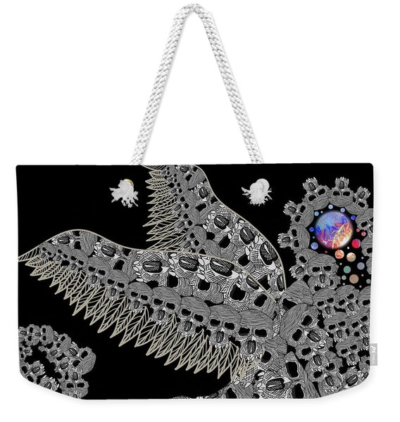 Angel Of Death Light With Worlds To Destroy Save Weekender Tote Bag