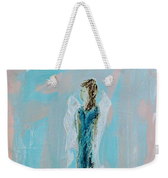 Angel With Character Weekender Tote Bag