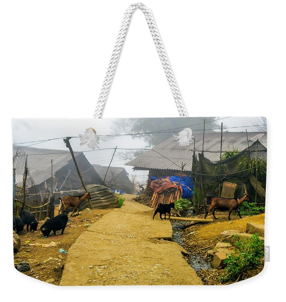 Animal Farm In Sapa, Vietnam Weekender Tote Bag