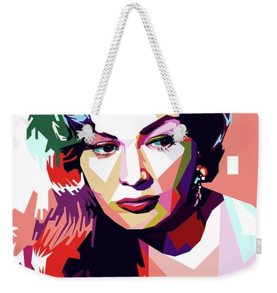 Anita Ekberg Pop Art Weekender Tote Bag